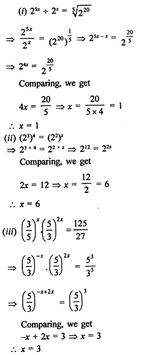 RD Sharma Class 9 Solutions Chapter 2 Exponents of Real Numbers Ex 2.2 - 10a
