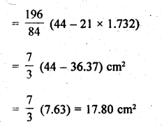 RD Sharma Class 10 Solutions Chapter 13 Areas Related to Circles Ex 13.3 - 5a