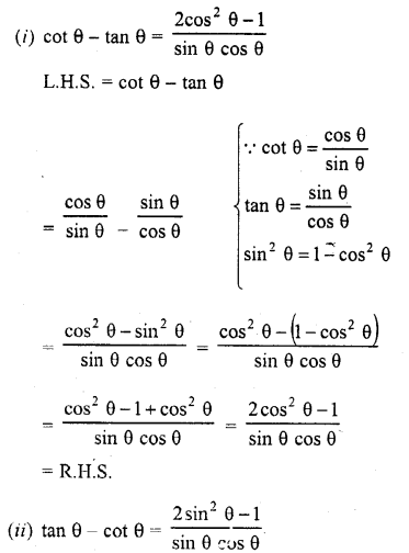 RD Sharma Class 10 Solutions Chapter 11 Trigonometric Identities Ex 11.1 - 23a
