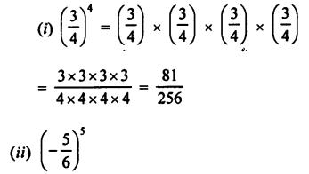 Selina Concise Maths class 7 ICSE Solutions - Exponents (Including Laws of Exponents)-3a.