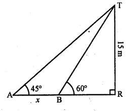 RD Sharma Class 10 Solutions Chapter 12 Heights and Distances Ex 12.1 - 58