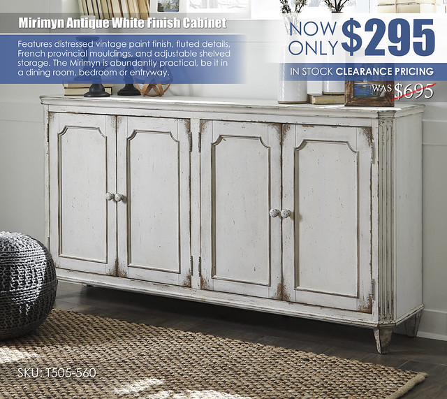 Mirimyn Antique White Accent Cabinet T505-560_Clearance