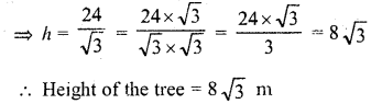 RD Sharma Class 10 Solutions Chapter 12 Heights and Distances Ex 12.1 - 19aa