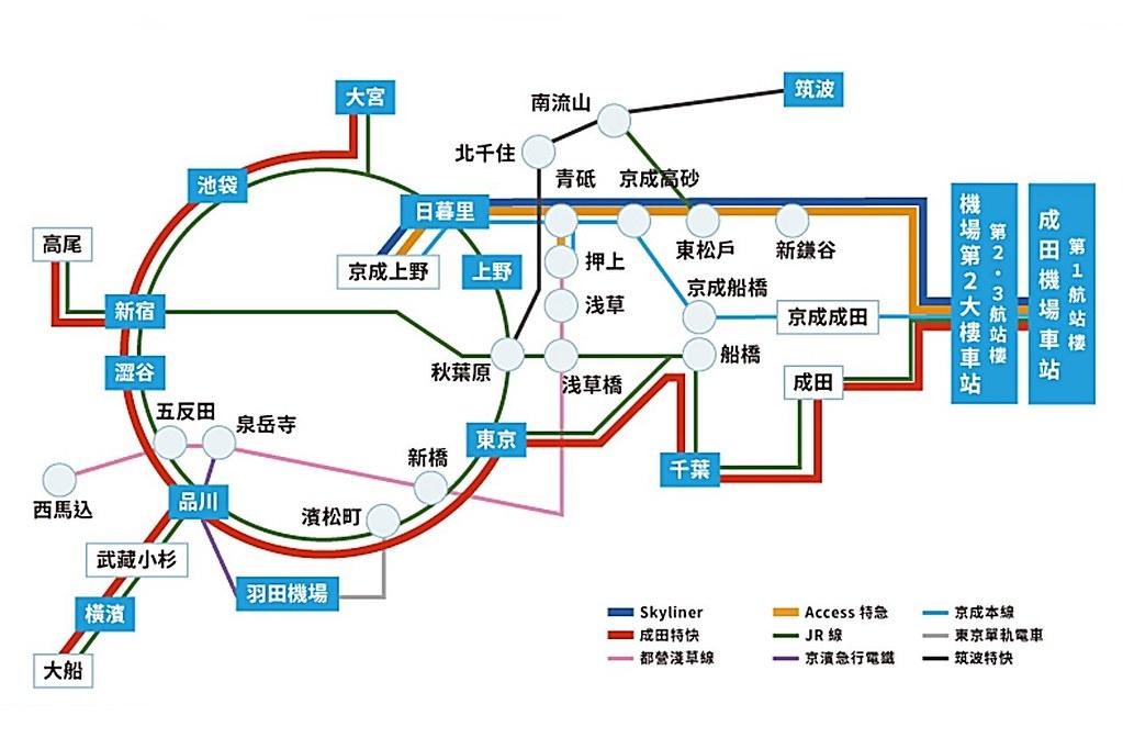 narita-airport map