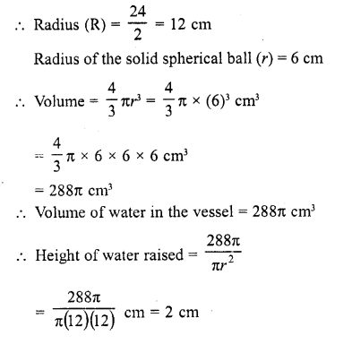 RD Sharma Class 10 Solutions Chapter 14 Surface Areas and Volumes  RV 18