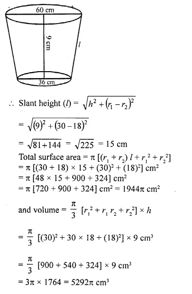 RD Sharma Class 10 Solutions Chapter 14 Surface Areas and Volumes Ex 14.3 16