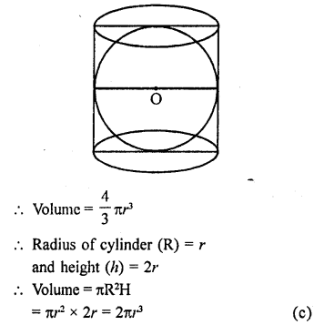 RD Sharma Class 9 Solutions Chapter 21 Surface Areas and Volume of a Sphere MCQS 12a