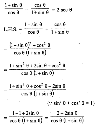 RD Sharma 10 Chapter 6 Trigonometric Identities