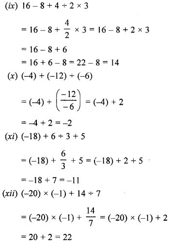 Selina Concise Maths class 7 ICSE Solutions - Integers-5c