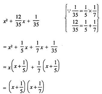 RD Sharma Class 9 PDF Chapter 5 Factorisation of Algebraic Expressions