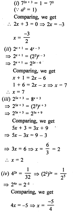 RD Sharma Class 9 Solutions Chapter 2 Exponents of Real Numbers Ex 2.1 - 8a