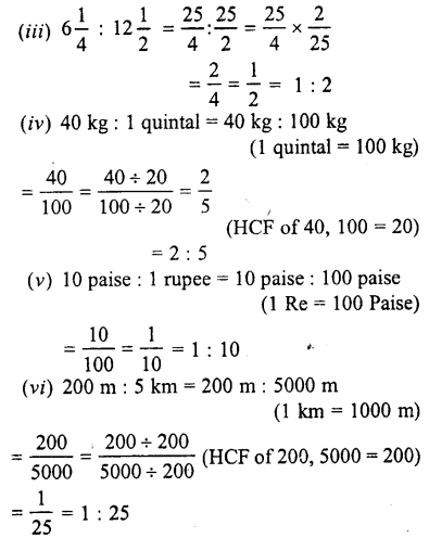 Selina Concise Mathematics class 7 ICSE Solutions - Ratio and Proportion (Including Sharing in a Ratio) -a1...
