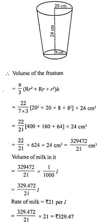 RD Sharma Class 10 Solutions Chapter 14 Surface Areas and Volumes  RV 67