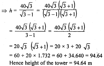 RD Sharma Class 10 Solutions Chapter 12 Heights and Distances Ex 12.1 - 49aa