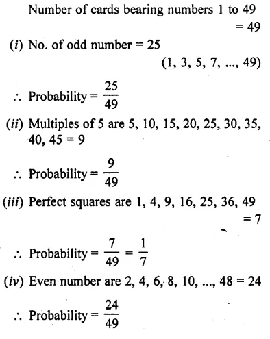 RD Sharma Class 10 Solutions Chapter 16 Probability Ex 16.1 48
