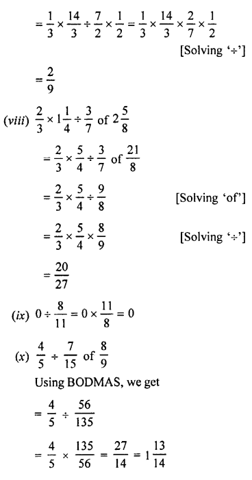 Selina Concise Maths class 7 ICSE Solutions - Fractions (Including Problems)-C5.....