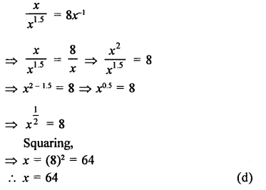 RD Sharma Class 9 Solutions Chapter 2 Exponents of Real Numbers MCQS - 26a