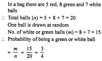 RD Sharma Class 10 Solutions Chapter 16 Probability VSAQS 3