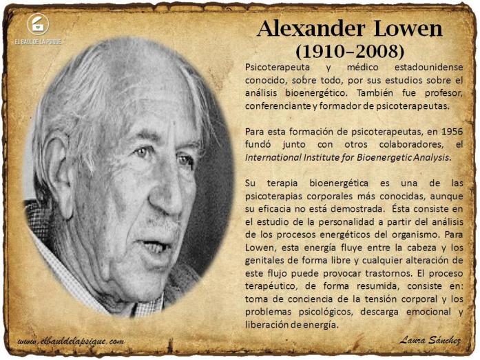 El Baúl de los Autores: Alexander Lowen