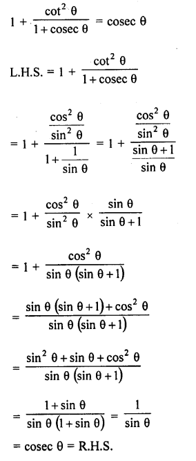 RD Sharma Class 10 Solutions Chapter 11 Trigonometric Identities Ex 11.1 - 51a