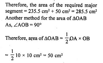 RD Sharma Class 10 Solutions Chapter 13 Areas Related to Circles Ex 13.3 - 7aa