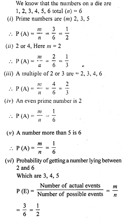 RD Sharma Class 10 Solutions Chapter 16 Probability Ex 16.1 2