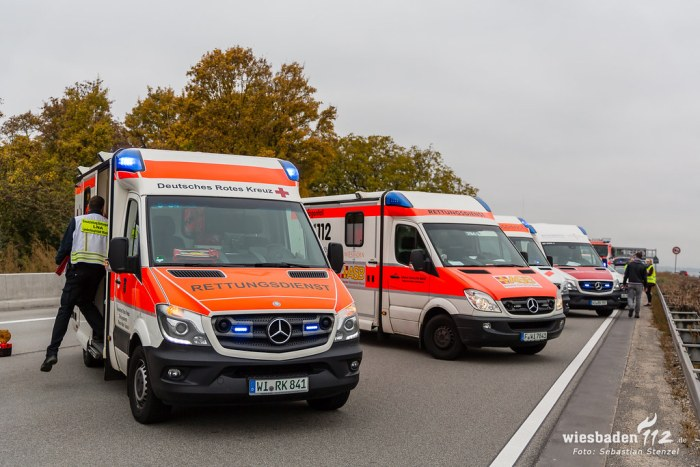 Auffahrunfälle A3 Breckenheim 04.11.18