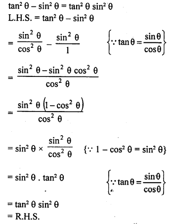 Class 10 RD Sharma Chapter 6 Trigonometric Identities
