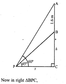 RD Sharma Class 10 Solutions Chapter 12 Heights and Distances Ex 12.1 - 26