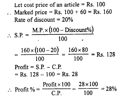 Selina Concise Mathematics class 7 ICSE Solutions - Profit, Loss and Discount-c15