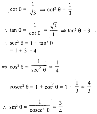 RD Sharma Class 10 Solutions Chapter 11 Trigonometric Identities Ex 11.2 - 6a