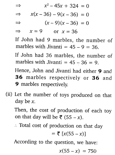 NCERT Solutions for Class 10 Maths Chapter 4 Quadratic Equations 6
