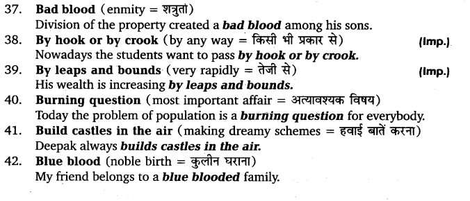 UP Board Solutions for Class 11 English Vocabulary Chapter 9 Idioms and Phrases 6