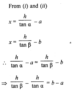 RD Sharma Class 10 Solutions Chapter 12 Heights and Distances Ex 12.1 - 65aa