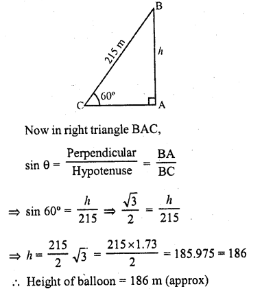RD Sharma Class 10 Solutions Chapter 12 Heights and Distances Ex 12.1 - 37