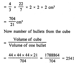 RD Sharma Class 9 Solutions Chapter 21 Surface Areas and Volume of a Sphere VSAQS 6a