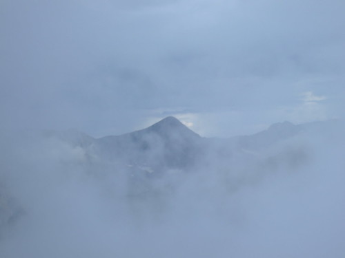 Mountain Through the Clouds