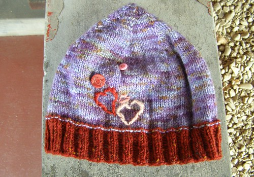 valentines day hat - flat
