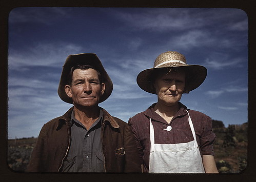 Jim Norris and wife, homesteaders, Pie Town, New Mexico (LOC)