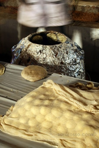 Roti being made at a wedding in India
