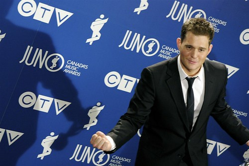 Michael Buble at the 2008 Junos, Photo by Duane Storey