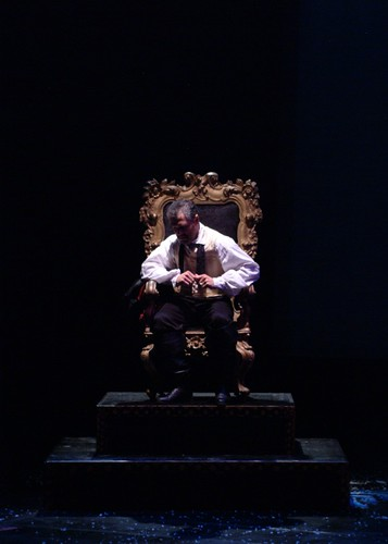 King on his throne