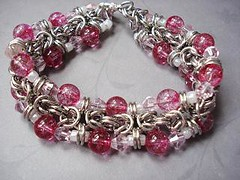 Cracklin' Chain Maille Bracelet
