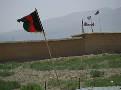 Taliban Flags on the Pakistan side of the bord...