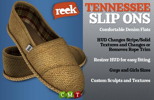 Reek - Tennessee Slip Ons Ad