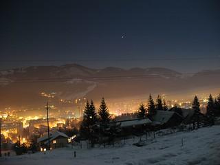 Cîmpulung Moldovenesc, by night