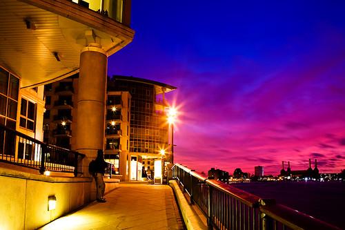 Twilight at St George Wharf