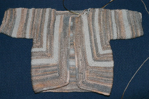 Helen's Baby Surprise Jacket, almost done