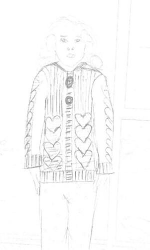 Cardi Sketch Front