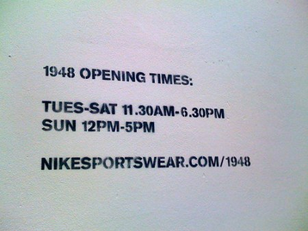 Nike 1948 Popup Store in London